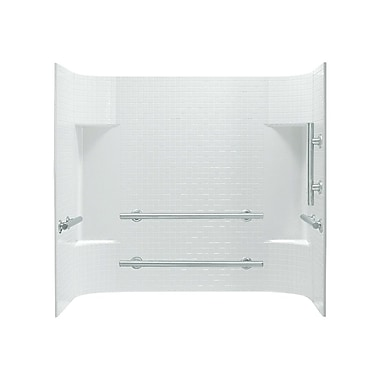 Sterling by Kohler Accord 3-Piece 31.25'' x 60'' x 56.25'' Wall Set w/ Grab Bars on Right; White