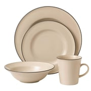 Gordon Ramsay Union Street 4 Piece Dinnerware Set; Cream