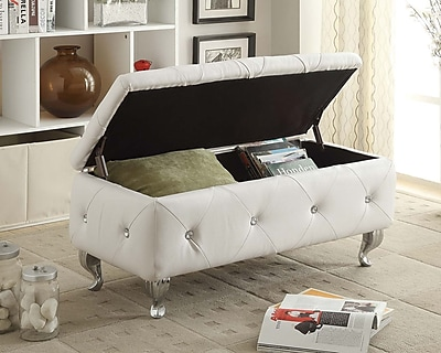AC Pacific Storage Bench; Off-White