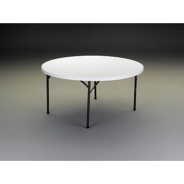 PS Furniture Round Folding Table; 29'' H x 60'' W x 60'' D