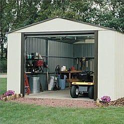 Arrow Murryhill 12 ft. 2 in. W x 9 ft. 9 in. D Metal Garage Shed
