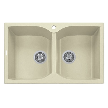 LaToscana Corax Sereis 38.125'' x 19.75'' Double Basin Kitchen Sink
