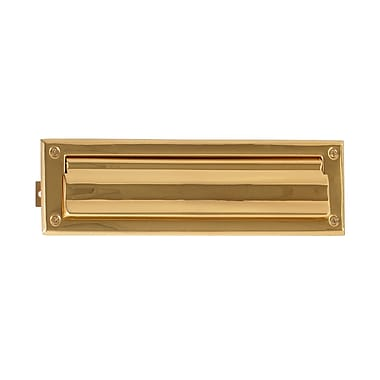 BRASS Accents 10 in x 3 in Mail Slot; PVD Polished Brass