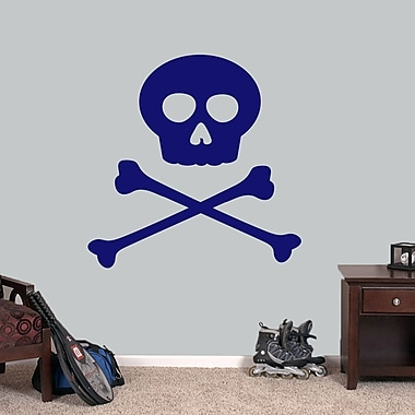 SweetumsWallDecals Skull and Crossbones Wall Decal; Navy