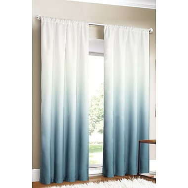 Dainty Home Shades Curtain Panels (Set of 2); Blue