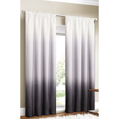 Dainty Home Shades Curtain Panels (Set of 2); Black