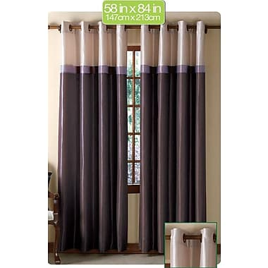 VCNY Westin Curtain Single Panel; Plum /Taupe