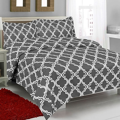 Maison Condelle Studio 707 Esther 3 Piece Full Comforter Set; Grey