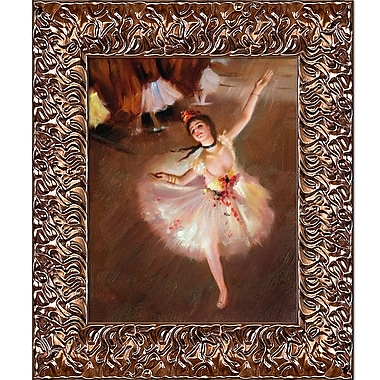 Tori Home Star Dancer (on Stage) by Edgar Degas Framed Painting Print
