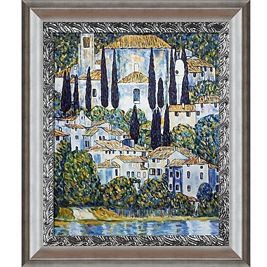 Tori Home Church in Cassone (Landscape w/ Cypress) by Gustav Klimt Framed Painting Print