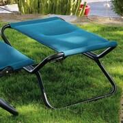 Lafuma Next Air Comfort Folding Footrest Stool; Coral Blue