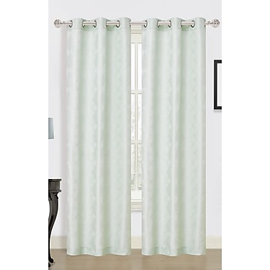 Dainty Home Medina Curtain Panels (Set of 2); Sea Foam