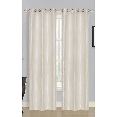 Dainty Home Tree of Life Curtain Panels (Set of 2); Ivory