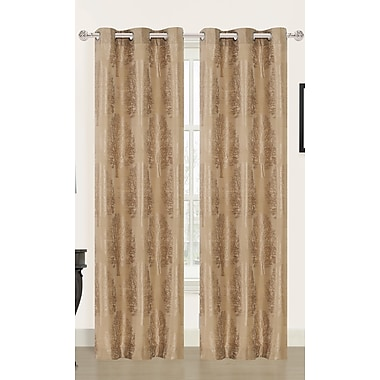 Dainty Home Tree of Life Curtain Panels (Set of 2); Latte