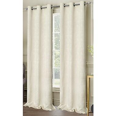 Dainty Home Matelasse Grommet Curtain Panels (Set of 2); Ivory