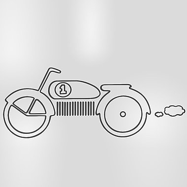 Sweet Potato by Glenna Jean Uptown Traffic Motorbike Wall Decal