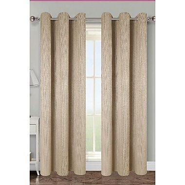 Popular Bath Products Anika Curtain Panels (Set of 2); Cocoa