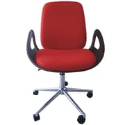 Porthos Home Caroline Mid-Back Desk Chair; Red