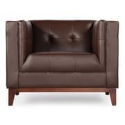 Kardiel Harrison Mid Century Modern Club Chair; Deep Brown