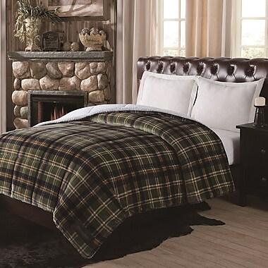 Remington Supreme Velvet Plaid Comforter; King