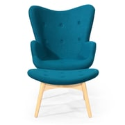 Kardiel Contour Lounge Chair and Ottoman; Caribbean