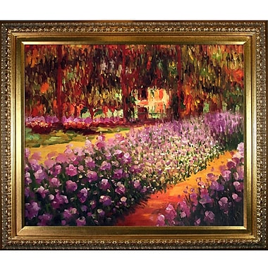 Tori Home Artist's Garden at Giverny by Claude Monet Framed Painting Print
