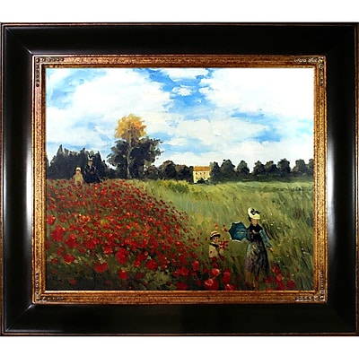 Tori Home Poppy Field in Argenteuil by Claude Monet Framed Painting Print