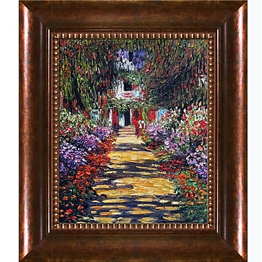 Tori Home Garden Path at Giverny by Claude Monet Framed Painting Print