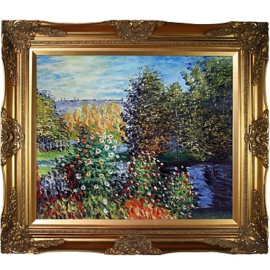 Tori Home Corner of the Garden at Montgeron by Claude Monet Framed Painting Print