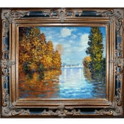 Tori Home Autumn at Argenteuil by Claude Monet Framed Painting Print