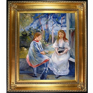 Tori Home Little Girls at the Window by Berthe Morisot Framed Painting Print