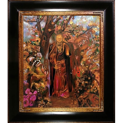 Tori Home Buddha Walking Among the Flowers by Odilon Redon Framed Painting Print
