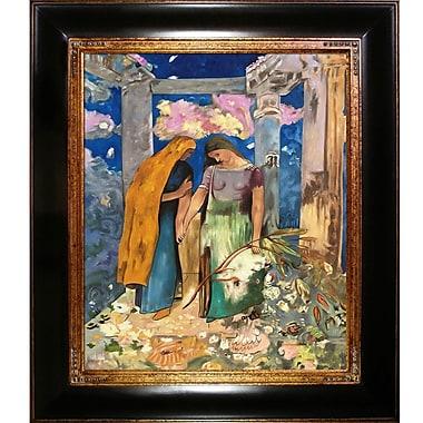 Tori Home Mystical Conversation, 1896 by Odilon Redon Framed Painting Print