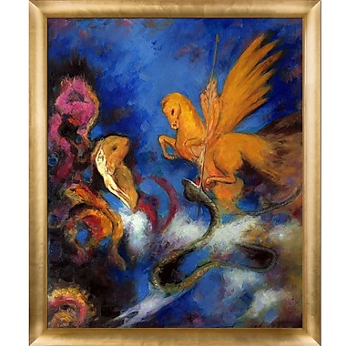 Tori Home Roger and Angelica 1910 by Odilon Redon Framed Painting Print