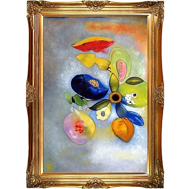 Tori Home Flowers 1914-1916 by Odilon Redon Framed Painting Print