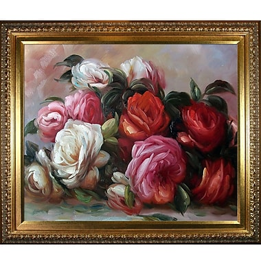 Tori Home 'Discarded Roses' by Pierre-Auguste Renoir Framed Oil Painting Print on Canvas