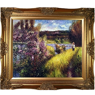 Tori Home The Seine at Chatou by Pierre Auguste Renoir Framed Painting Print