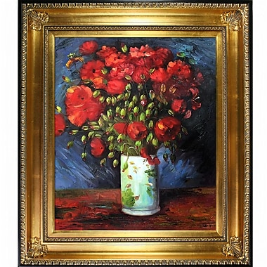Tori Home Vase w/ Poppies by Vincent Van Gogh Framed Painting Print