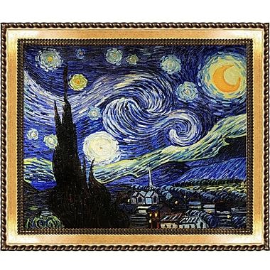 Tori Home Starry Night by Vincent Van Gogh Framed Painting Print