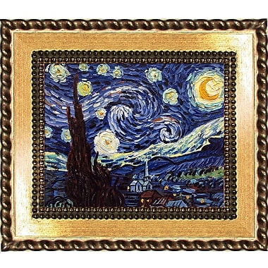Tori Home 'Starry Night' by Vincent Van Gogh Framed Oil Painting Print on Canvas