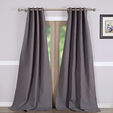 Greenland Home Fashions Vashon Solid Blackout Curtain Panels (Set of 2)