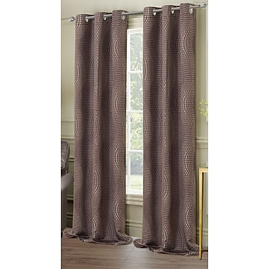 Dainty Home New Port Curtain Panel (Set of 2); Charcoal