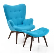 Edgemod Auzzie Lounge Chair and Ottoman; Blue