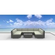 Urban Furnishings Tahiti 9 Piece Deep Seating Group w/ Cushion; Beige