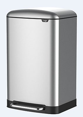 JoyWare Stainless Steel 1.59 Gallon Step On Trash Can