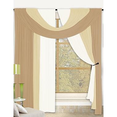 Kashi Home Bella Window Treatment Set (Set of 2); Gold