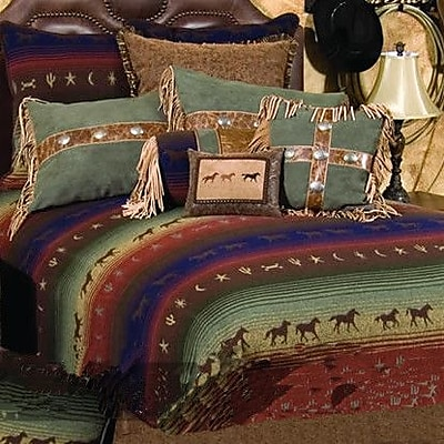 Wooded River Mustang Canyon 4 Piece Coverlet Set; Twin