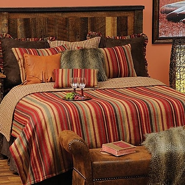 Wooded River Bandera 4 Piece Reversible Coverlet Set; Queen
