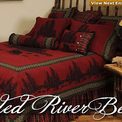 Wooded River Wooded River Bear 4 Piece Coverlet Set; Twin