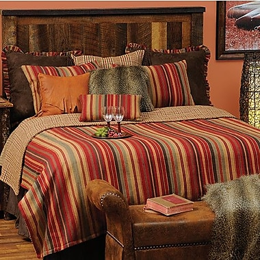 Wooded River Bandera 7 Piece Reversible Coverlet Set; Super Queen
